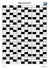 Bingo Cards (4 x 3)